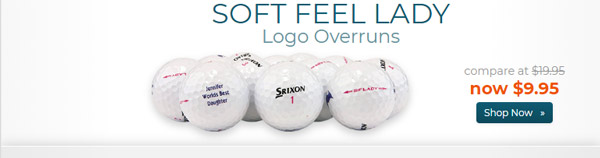 Srixon Soft Feel Lady Logo Overrun Golf Balls