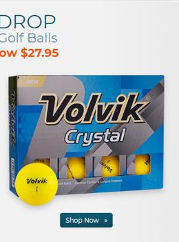Volvik Crystal Yellow Golf Balls