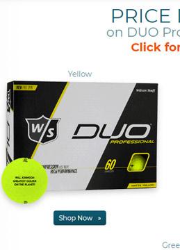 Wilson Staff DUO Professional Yellow Golf Ball