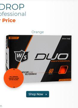 Wilson Staff DUO Professional Orange Golf Ball