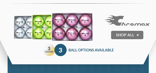 $5.00 Off Personalization on Chromax Golf Balls