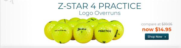 Srixon Z Star 4 Yellow Practice Golf Balls