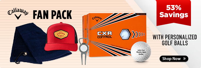 Callaway Fan Pack with 2 Dozen CXR Control Personalized Golf Balls