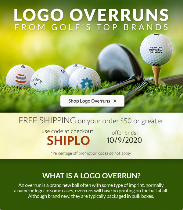 Logo Overruns from Golf's Top Brands + Free-Shipping on orders of $50 or greater with code SHIPLO at checkout.