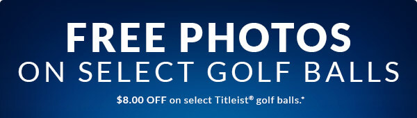 Free Photo Customization on Select Golf Balls! ($8.00 off on Titleist golf balls)