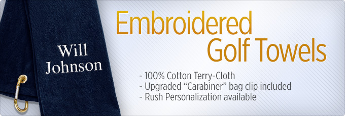 e337fb9c50ce Personalized   Embroidered Golf Towels - Golfballs.com
